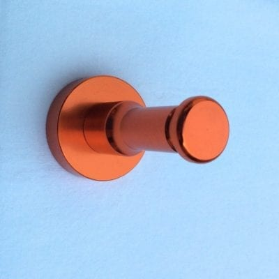patère tige color design aluminium orange